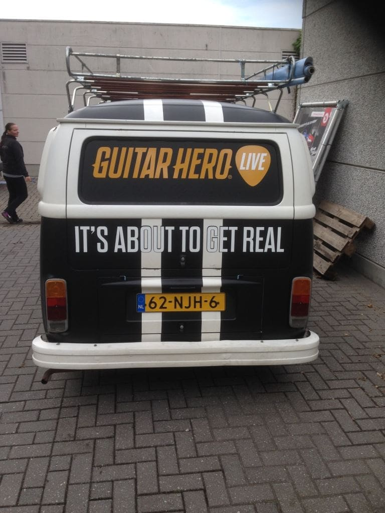 VW T2 mat black guitar hero, Carwrapping door Wrapmyride.nu Foto-nr:8043, ©2020